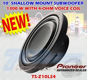 """PIONEER (1) TS-Z10LS4 10"""" SUBWOOFER WITH 4-OHM VOICE COIL 1300 WATTS SINGLE SUB"""
