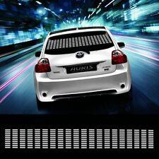 90*10cm White Car Sticker Music Rhythm LED Flash Lamp Sound Activated Equalizer