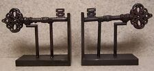 Bookends Medieval Industrial Revolution Antique Key metal Pair Book Ends NEW