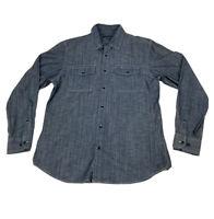 Banana Republic Men's Tailored Slim Fit Button Up Blue Denim Jean Shirt Size M