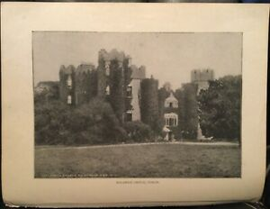 Irish Book Illus Photo Print MALAHIDE CASTLE Fingal Dublin Ireland c1900 8x11