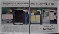 1956 FRIGIDAIRE appliances 2-page advertisements, retro stove, fridge etc