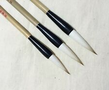 Wolf Goat Hair 3pcs Brushes Chinese Calligraphy / sumi-e Painting