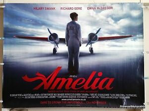 AMELIA 2009 Hilary Swank Original Cinema Movie Poster