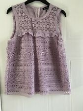 New Look Lilac Top Size 14