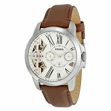 **NEW** MENS FOSSIL GRANT TWIST CHRONO SKELETON LEATHER WATCH - ME1144 -RRP £149