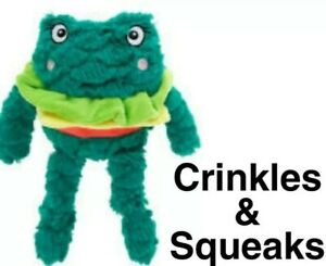 Top Paw FROGBURGER Sm Plush DOG TOY - Crinkles & Squeaks: Spring 2021 Collection