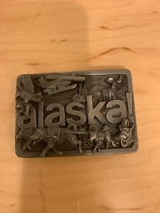 Vintage 1984 Alaska Montage JH 150 Belt Buckle Heavy Cast.