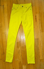 Yellow Cheap Monday Skinny Jeans Tight Overdyed  Size 25 / 32