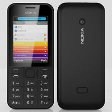 "Nokia 208 Black 2.4"" LCD Screen 1.3MP Camera Series 40 Unlocked"