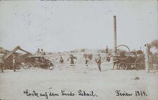 CHILE 1914 REAL PHOTO COSECHA EN EL FUNDO PAHUIL