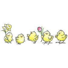 PENNY BLACK RUBBER STAMPS SPRING PARADE CHICKEN NEW wood STAMP