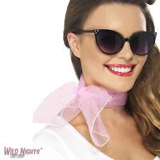 Smiffys 50s Neck Scarf Chiffon Style Pink