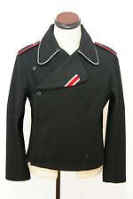WWII German Elite officer panzer black wool wrap/jacket 2XL