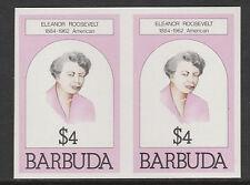 Barbuda (623) 1981 Eleanor Roosevelt $4 IMPERF COPPIA U/M
