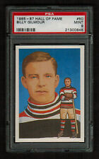 PSA 9 BILLY GILMOUR 1985 Hockey Hall Of Fame Card #50