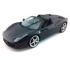 1/18 Hot Wheels Ferrari 458 Spider Diecast Model Car Matte Black X5528