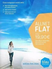 01577/3058194 Blau.de O2 Allnet Flat - Startpaket Sim Karte + NEU +
