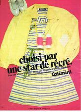 PUBLICITE ADVERTISING 114  1981  CATIMINI  vetements fille  STAR