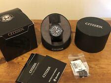Citizen Mens Eco-Drive Nighthawk Pilot Black 42mm Watch BJ7009-58E Retail $425