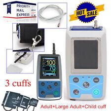 USA CE FDA Ambulatory Blood Pressure Patient Monitor 24h NIBP Holter 3 cuffs+USB
