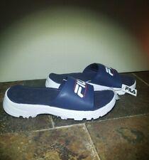 NEW Fila® Women's Blue Tacombi Slides Slip on Sandals w/ EVA size 8 new