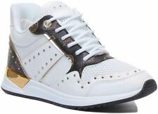 Guess Fl5Rejfal12 DISPLAY MODEL Trainer In White Brown UK Size 5 and 7