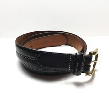 Cole Haan Men Black Leather Casual Belt Made in India Size 40