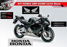 Adesivi Stickers Pegatinas HONDA CBR 600 RR 2003 2004 BLACK COMPATIBILI ORIGINAL