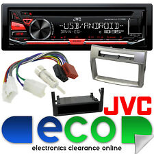 Toyota Corolla Verso 2004-09 JVC CD MP3 USB Aux iPod & Silver Fascia Stereo Kit