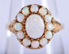Beautiful Vintage 9ct Gold and Opal Ring Size P