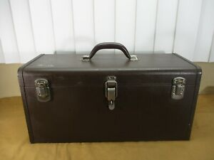 Vintage Classic Kennedy Metal Tool box with Insert Tray  -CLEAN-