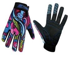 QEPAE Anti-Slip Full Finger Cycling Gloves for Womens