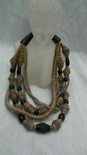 Pretty statement Gerda Lynggaard grey beads 6  strands necklace