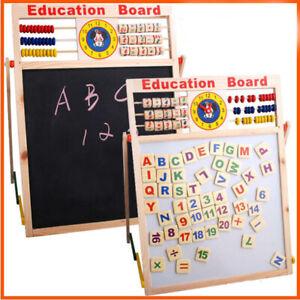 6 in 1 Kid Easel Wooden Blackboard Whiteboard Child Drawing Art Chalk Board Gift