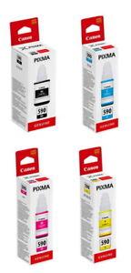 4 Canon Tintenbehälter Tinte GI-590 BK / C / M / Y Multipack