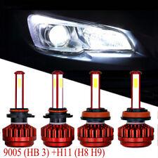 4pcs 9005 HB3+H11 H8 H9 560W 44000LM LED Headlight Bulb Light Kit Xenon white