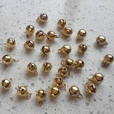 set de 40 CAMPANAS 9x6mm DORE141 perla navidad carnaval SIN NÍQUEL