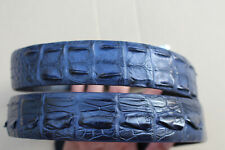 Blue Genuine Alligator ,Crocodile Hornback Leather Skin Men's Belt