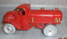old Arcade painted cast iron Mack Gasoline delivery truck toy