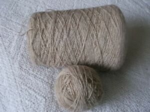 M. F. R. CASHTWEED  KNITTING YARN approx. 450gms with cone, colour BEIGE