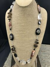 Barse Tibet Necklace- Mixed Stones & Swavroski Crystal- Sterling Silver- New