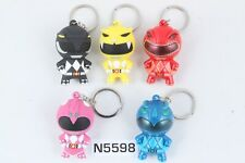 SDCC 2017 Monogram Saban Power Rangers Keyring 3D Red Black Yellow Pink Blue