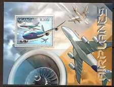 UGANDA 2012 AIRCRAFT M/SHEET MNH