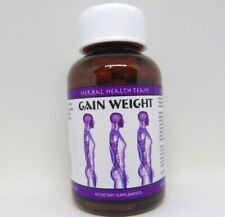 GAIN WEIGHT® GAIN MUSCLE BE BIGGER 4 bottles FREE P&P worldwide £49.99