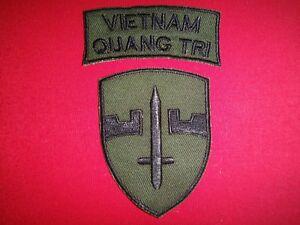 2 Nam War Patches Vietnam QUANG TRI + Military Assistance Command Vietnam MACV