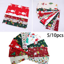 Christmas 100% Cotton Fabric Decor Charm Pack 25*25cm Squares Quilting Xmas