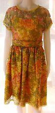 RARE Oscar de la Renta Studio Colorful Lace Dress Size 6 Circa 1980s!
