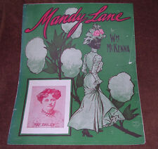 Wm J McKenna/Mandy Lane/1908/Fancy Black Americana Woman Walks in Tall Cotton