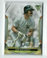 2019 Topps Triple Threads Don Mattingly Card #32, NY Yankees Legend!